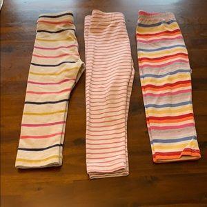 3 pairs of leggings mini Boden, gap, old navy
